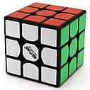 Кубик Рубика 3*3 Qiyi Cube черный корпус 5,6 см, фото 2