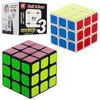 Кубик Рубіка 3*3 Qiyi Cube чорний корпус 5,6 см