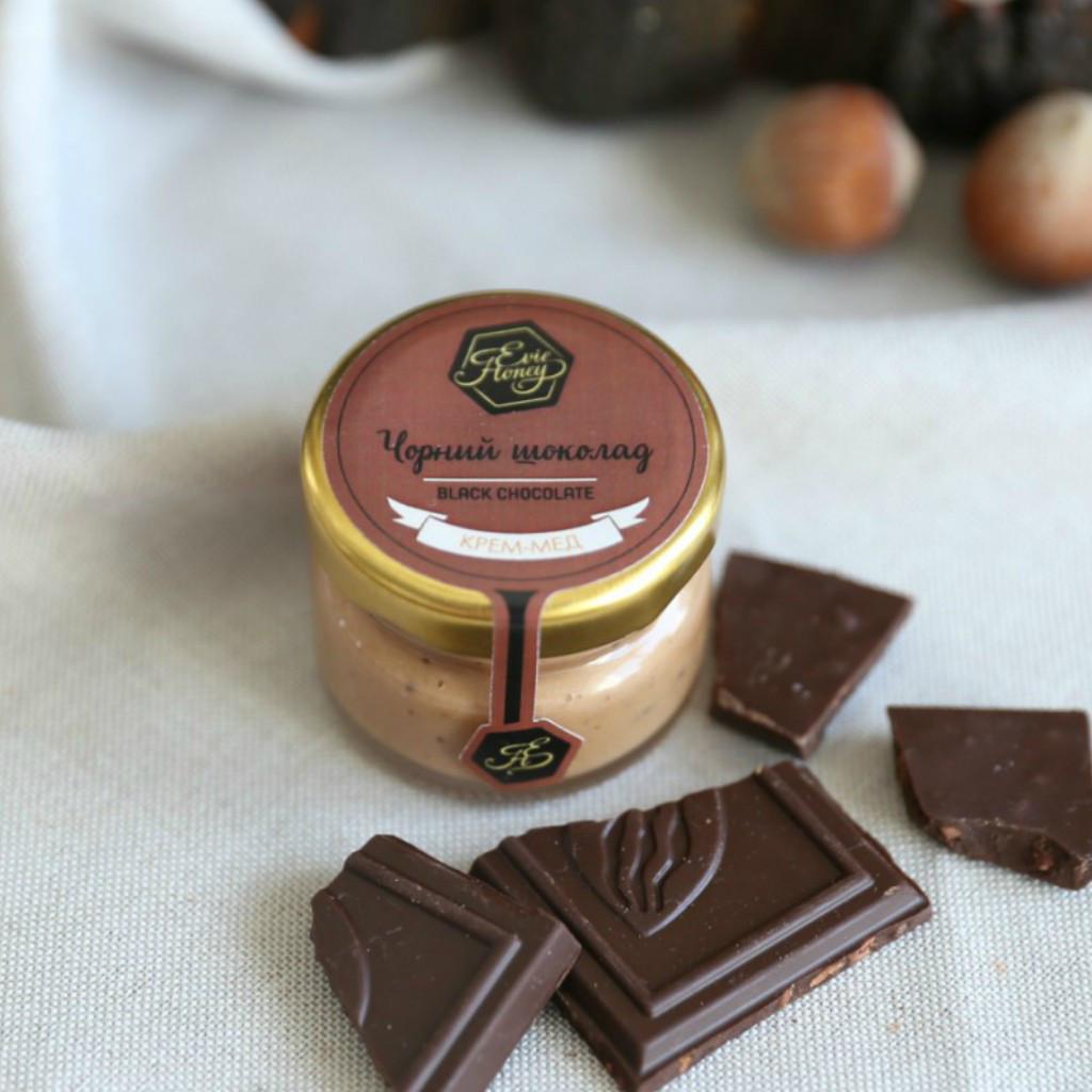 """Крем - мед с шоколадом """"Чорний шоколад"""" 30г"""
