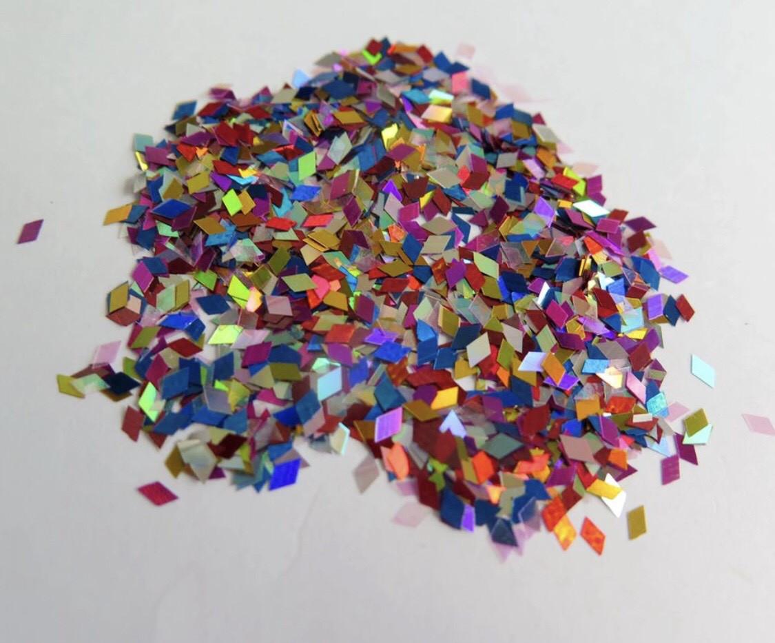 Ромбики для декора разноцветные 2 мм.