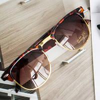 Солнцезащитные очки Clubmaster Leopard