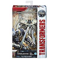 Трансформер Стилбейн из 5-й части кинофильма, 14СМ - Steelbane, Deluxe Class, Premier Edition, Hasbro