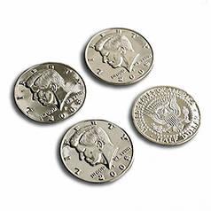 Реквізит для фокусів | Jumbo Half Dollar Shells 3 + 1 Set