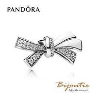 Pandora Шарм СИЯЮЩИЙ БАНТ #797241CZ серебро 925 Пандора оригинал, фото 1