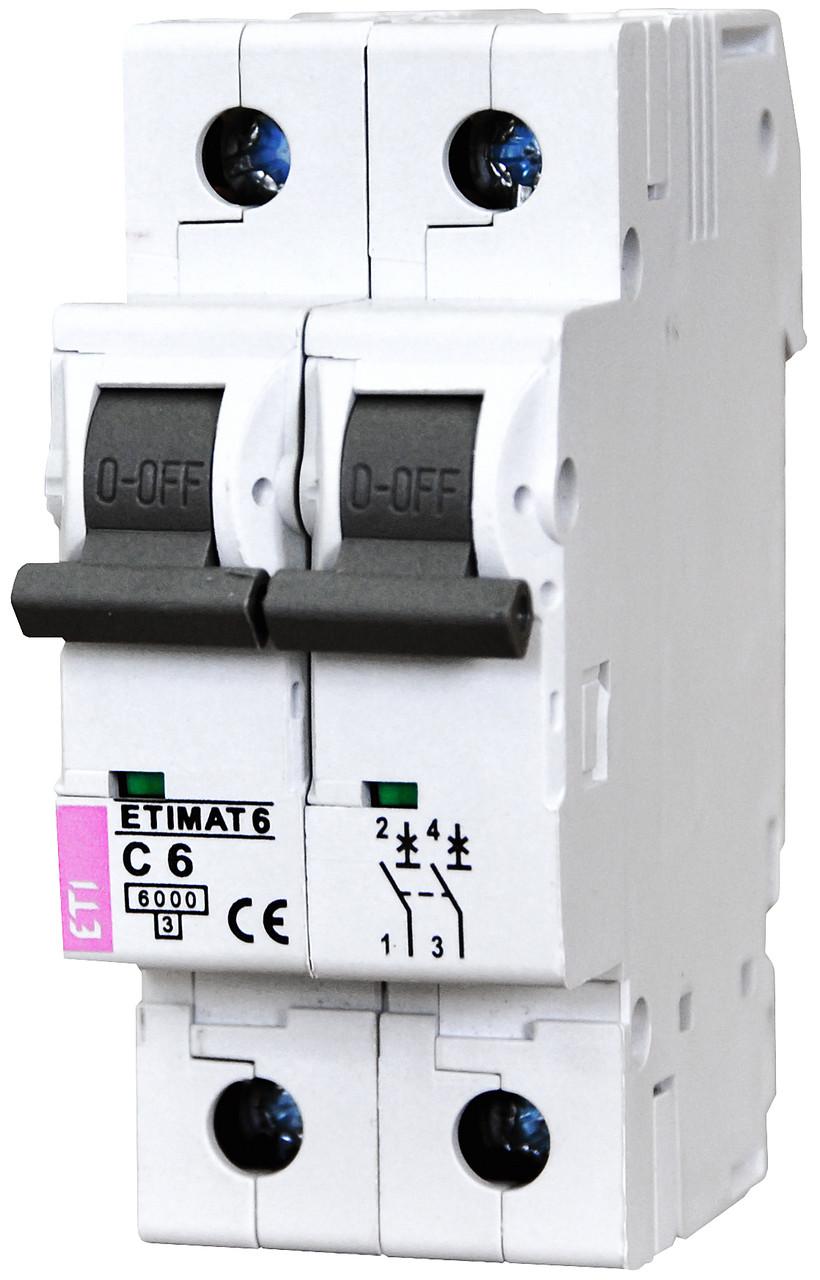 ETI Автоматичний вимикач ETIMAT 6 2p C 25А (6 кА)