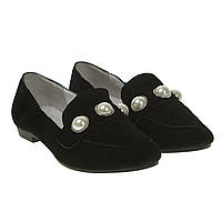 Туфли женские Attico(замшевые, стильные, с бусинами)