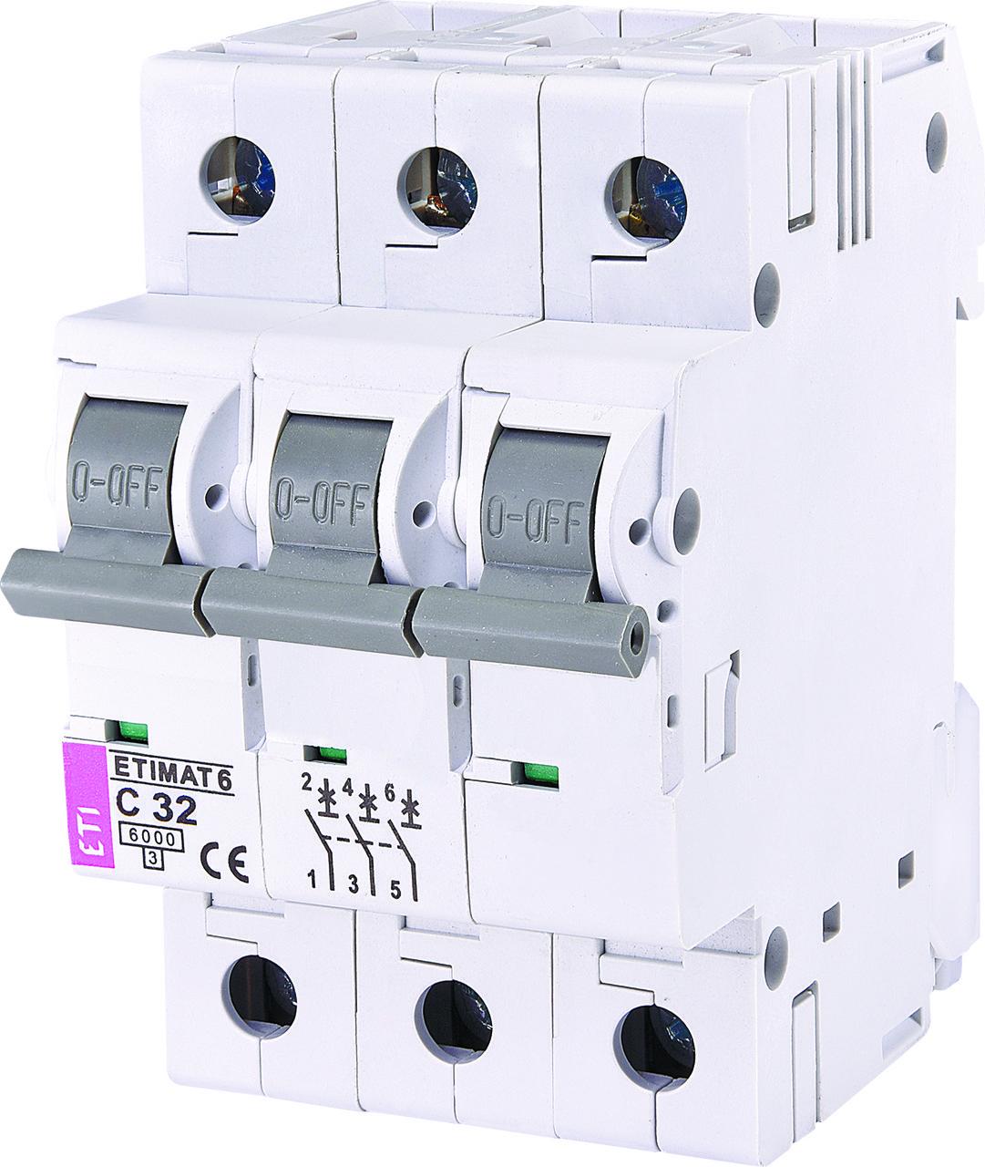 ETI Автоматичний вимикач ETIMAT 6 3p C 63А (6 кА)