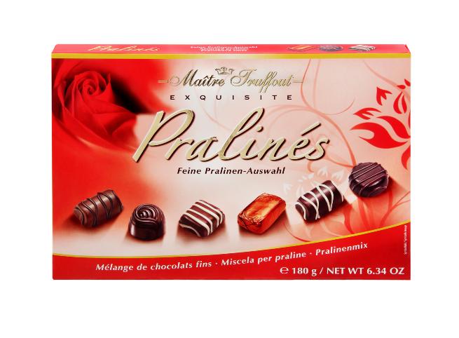 Шоколадные конфеты Maitre Truffout  exquisite Pralines 180 г