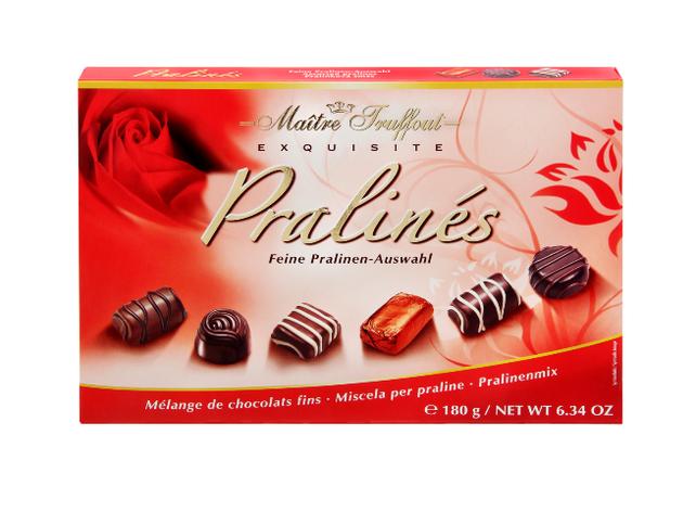Шоколадные конфеты Maitre Truffout  exquisite Pralines 180 г, фото 2