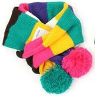 Детский вязаный шарф радуга