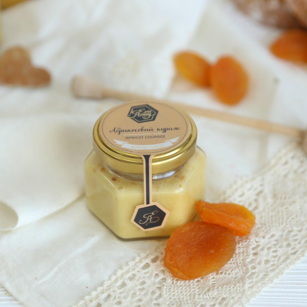"""Крем-мед с абрикосом """"Абрикосовый кураж"""" 120г"""