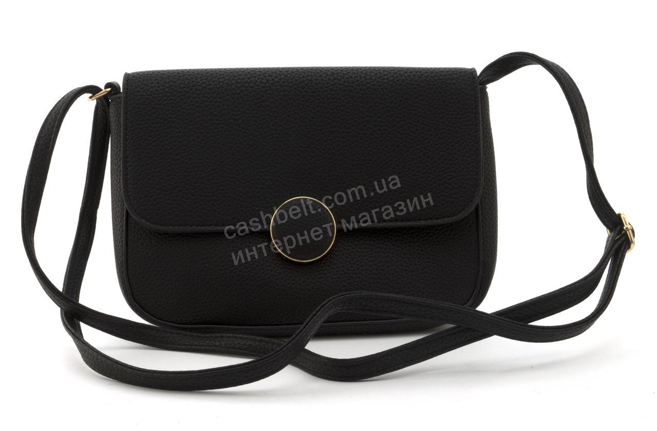 7621877d0a4c Небольшая вместительная женская стильная сумочка из эко кожи Love Dream  art. F9618 черная