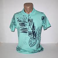 Мужская бирюзовая футболка Поло Турция т.м. Walton N5144