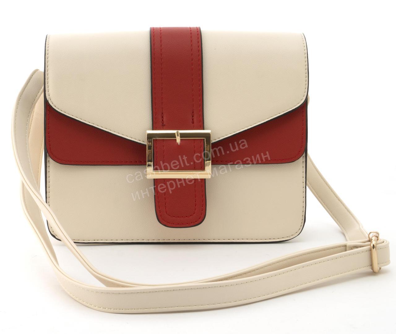 734ba5a61e27 Небольшая вместительная женская стильная сумочка из эко кожи Love Dream  art. HB-1037 бежевая