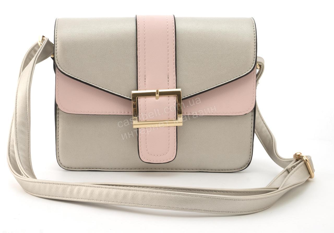 e9c4aeb0411b Небольшая вместительная женская стильная сумочка из эко кожи Love Dream  art. HB-1037 серебристая