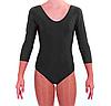 Купальник для гимнастики черный с длинным рукавом S, фото 2