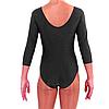 Купальник для гимнастики черный с длинным рукавом S, фото 3
