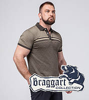 Braggart | Футболка поло мужская в большом размере 6681-1 кофе