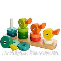 Деревянная игрушка Пирамидка Уточки, 555-224, 008309