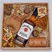 """Подарочный набор """"Довольный Кот"""" (виски, игрушка, орехи, шоколад). Оригинальный подарок мужчине, мужу, другу"""