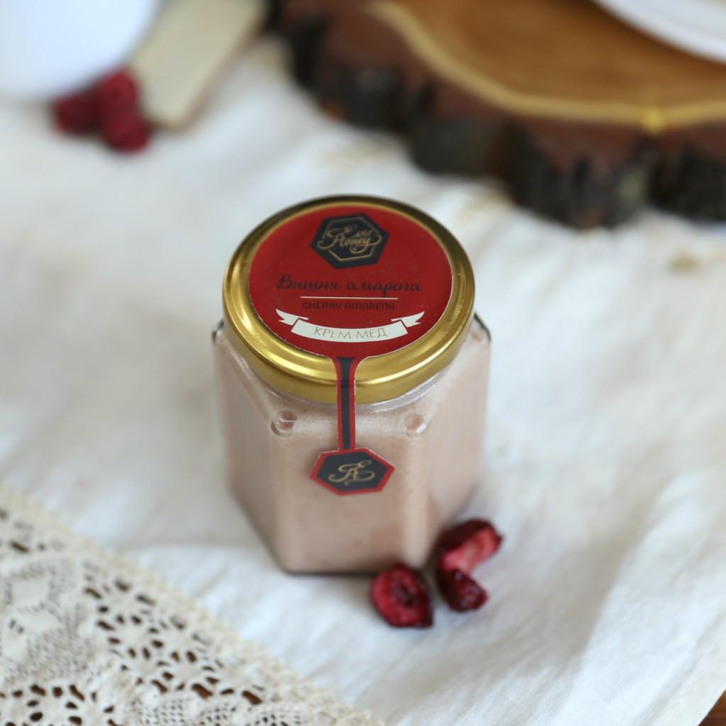 """Крем - мед с вишней  """"Вишня Амарена"""" 200г"""