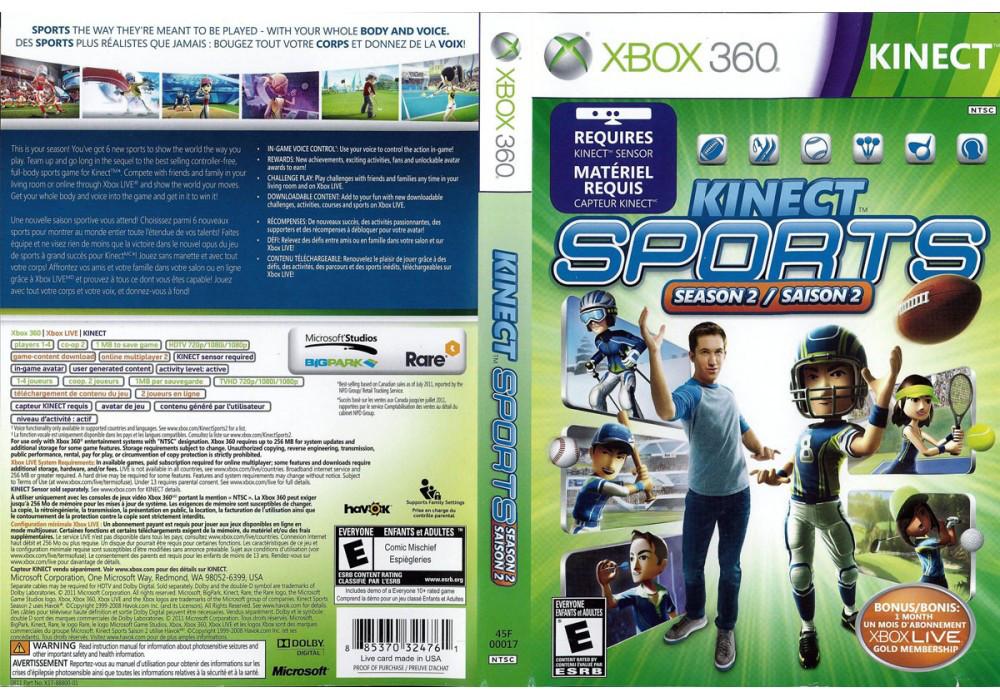Kinect Sports Season 2 (лицензия)