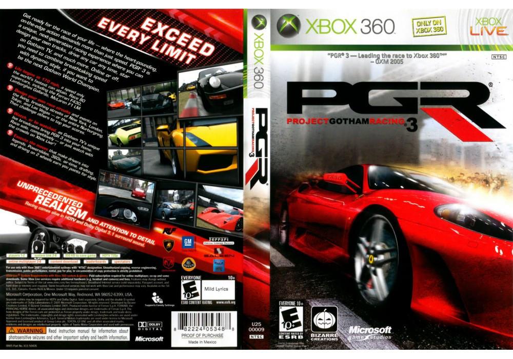 Project Gotham Racing 3 (лицензия)
