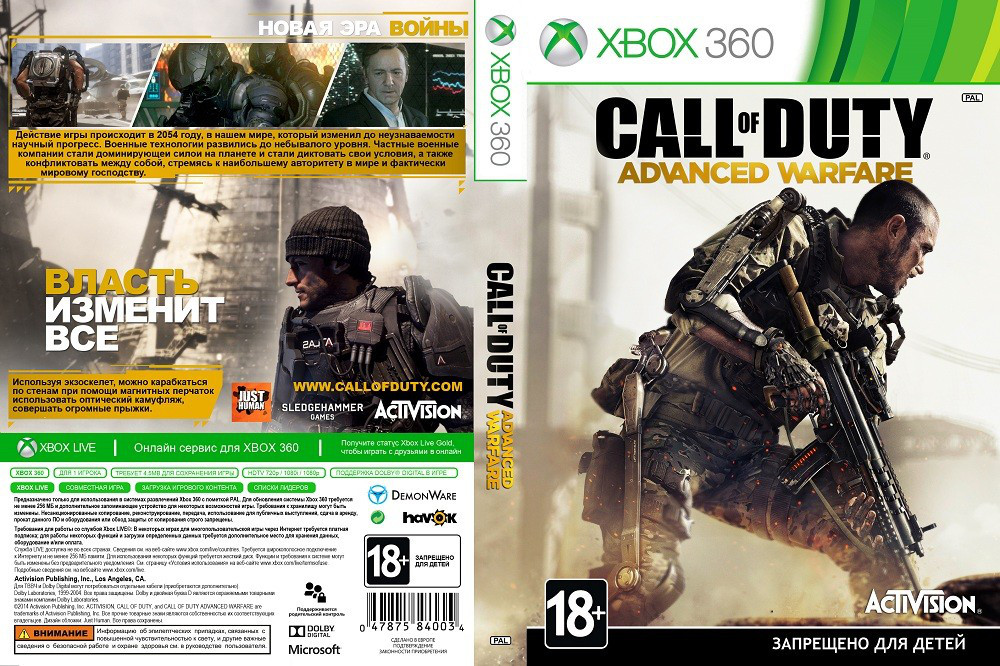 Call of Duty: Advanced Warfare (русский звук и текст) (2 диска)