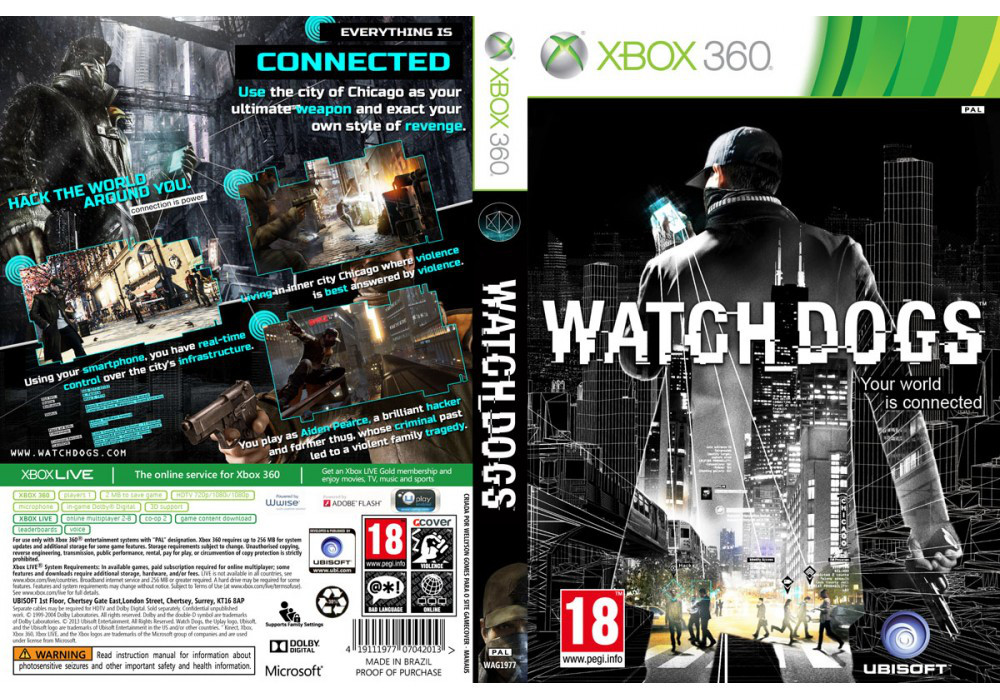 Watch Dogs (2 диска, русский текст и озвучка)
