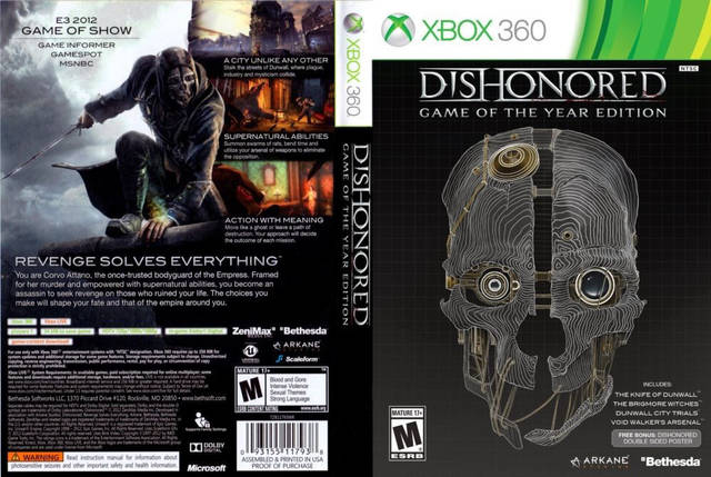Dishonored - Game of the Year Edition (2 диска, русский текст), фото 2
