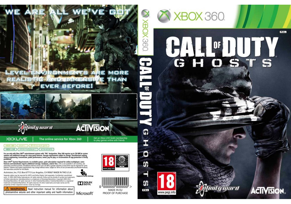 Call of Duty: Ghosts (2 диска, русский звук и текст)