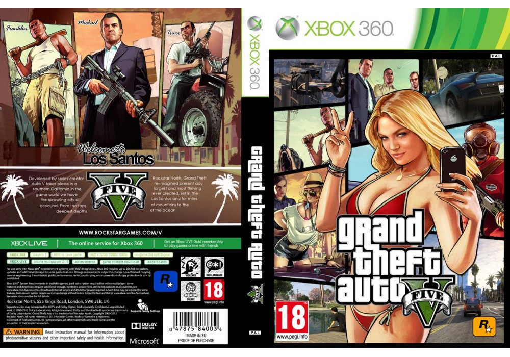 Grand Theft Auto 5 (2 диска, русский текст)