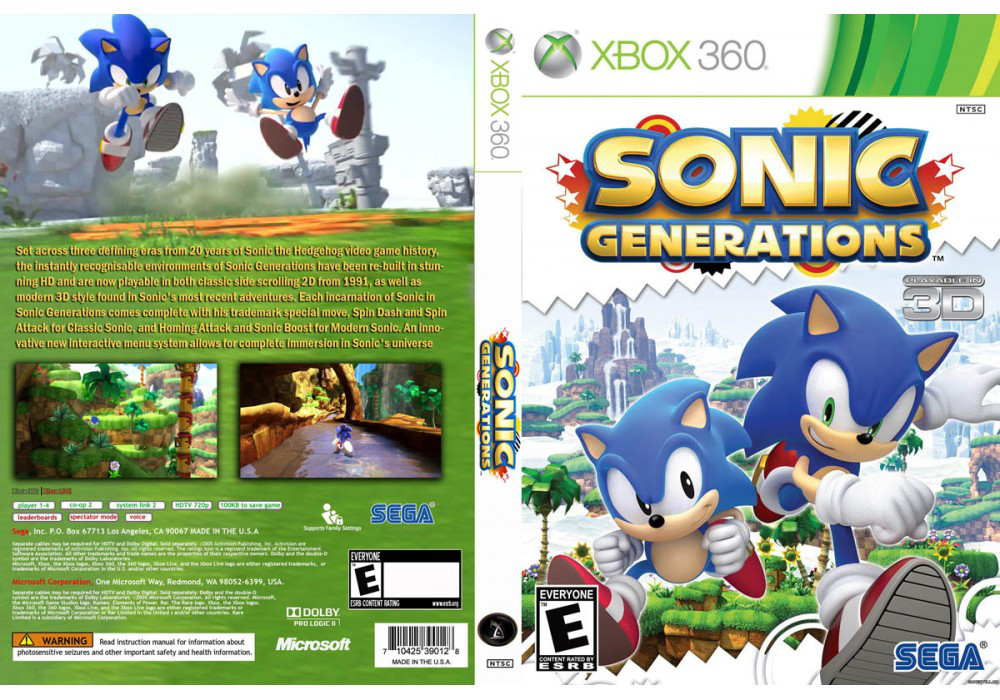 Sonic Generations (русский текст)