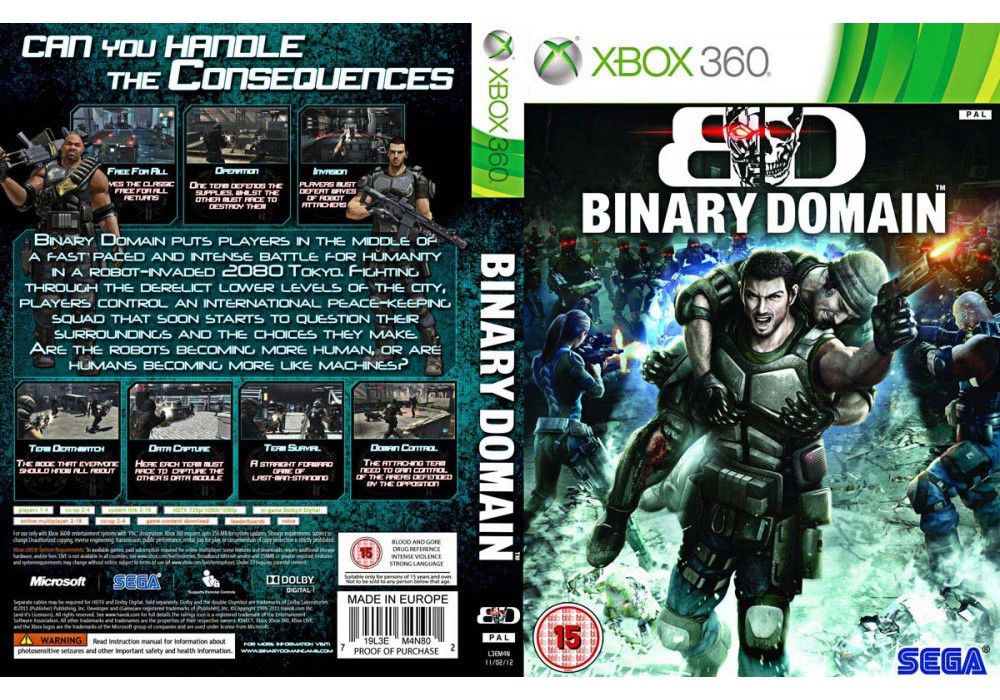 Binary Domain (русский текст)