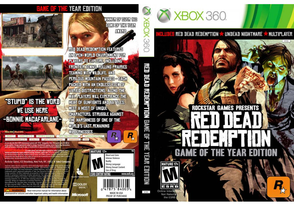 Red Dead Redemption Game of the Year edition (русский текст)