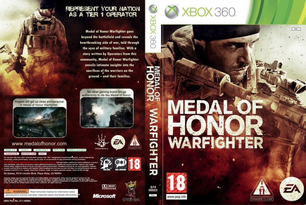 Medal Of Honor: Warfighter (2 диска, русский текст и озвучка)