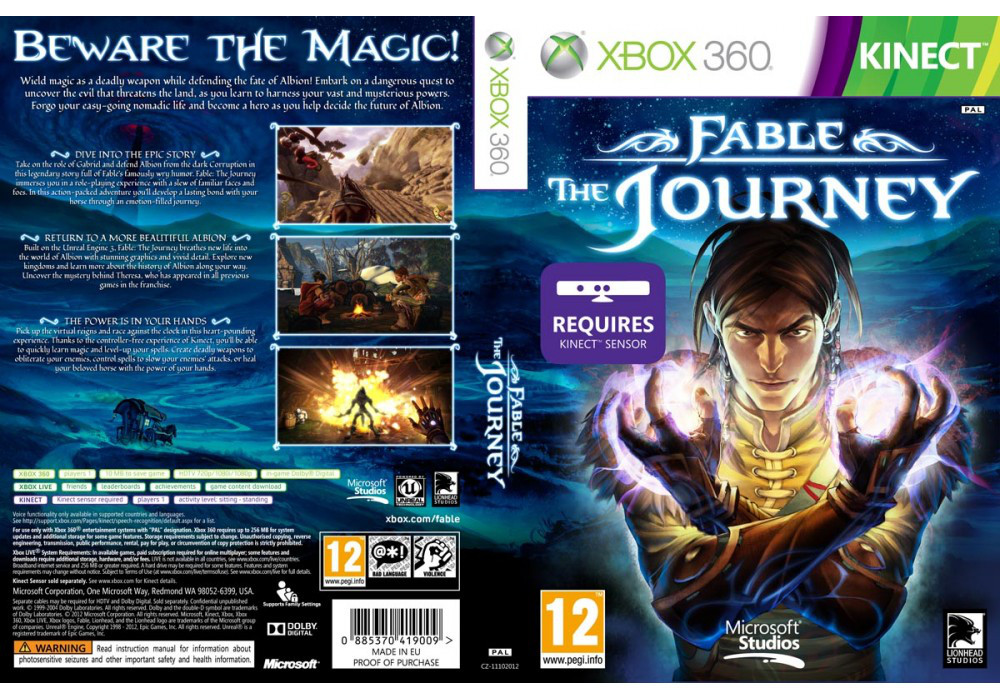 Fable: The Journey [Kinect] (русский текст и озвучка)