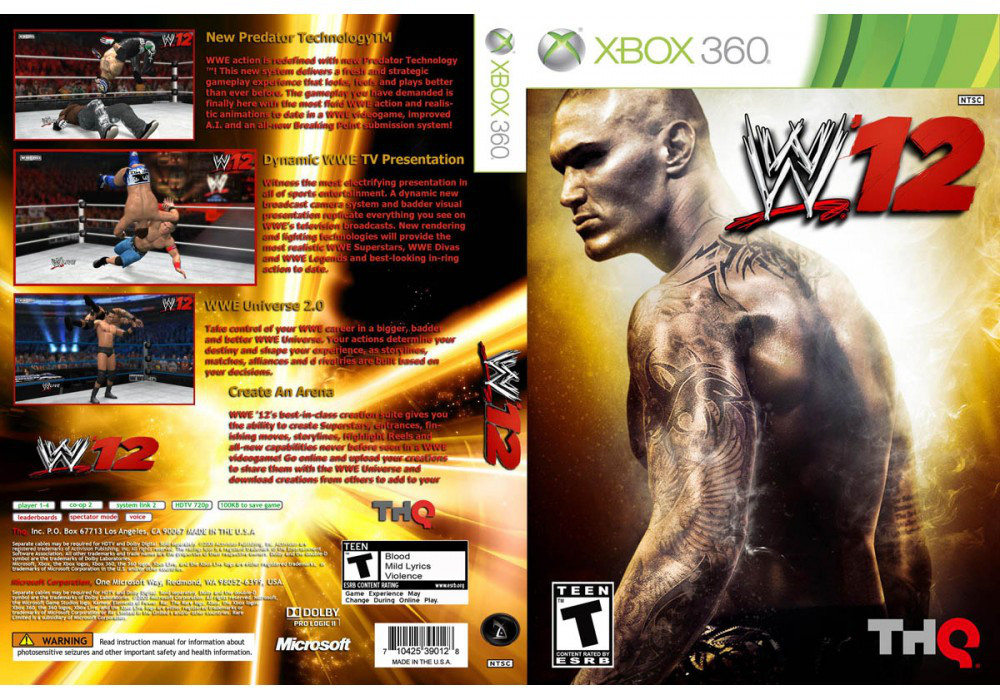 WWE 12 (русский текст)