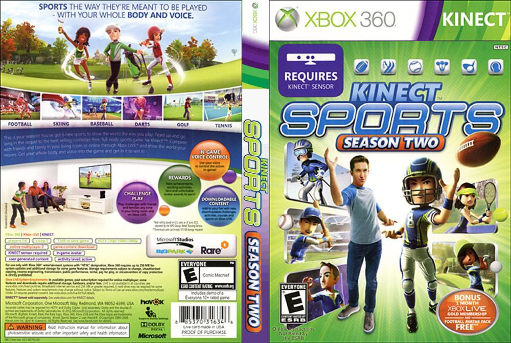 Kinect Sports: Season Two [Kinect] (русский звук и текст)