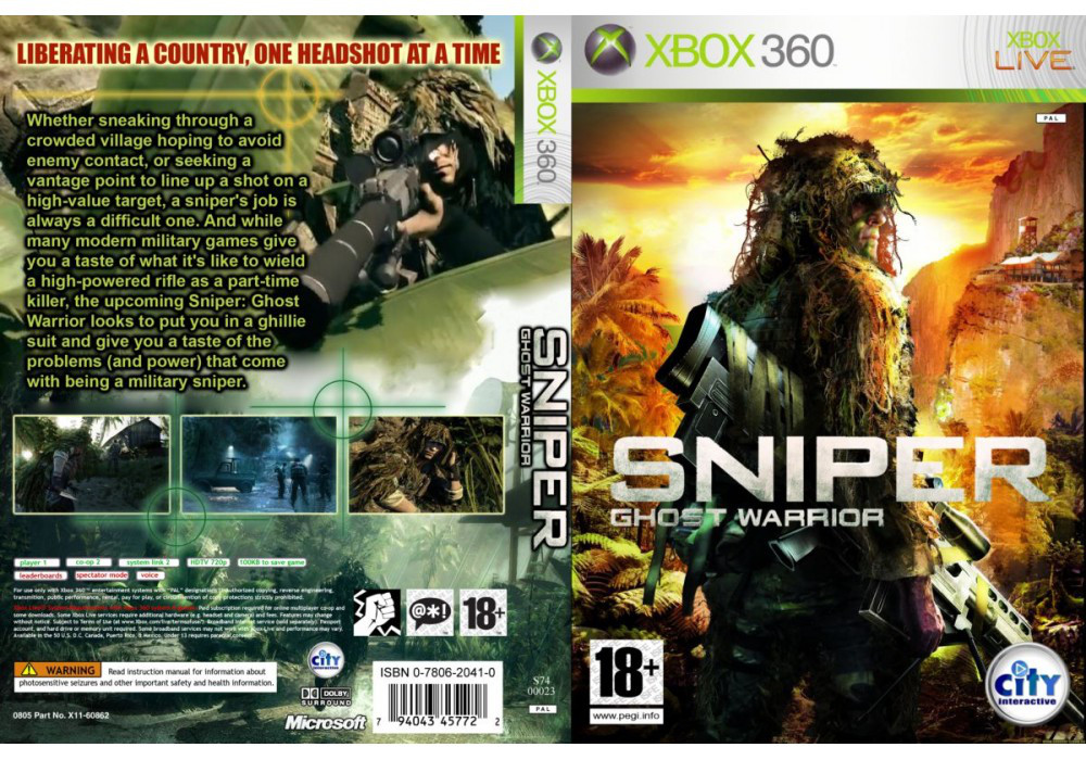 Sniper: Ghost Warrior (русский звук и текст)