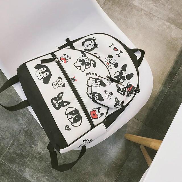 Рюкзак для девочки с мордашками собак