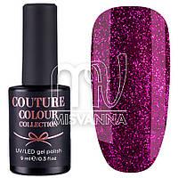 Гель-лак Couture Colour №29, 9 мл плотные блестки фуксия