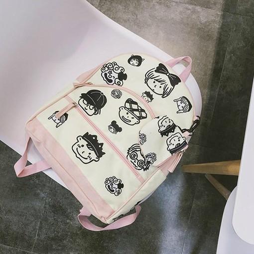 Рюкзак для девочки с мордашками людей