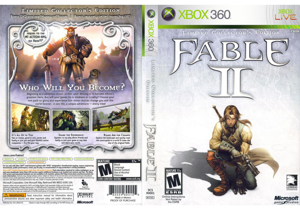 Fable 2: Collector's Edition (оф. русский текст и озвучка)