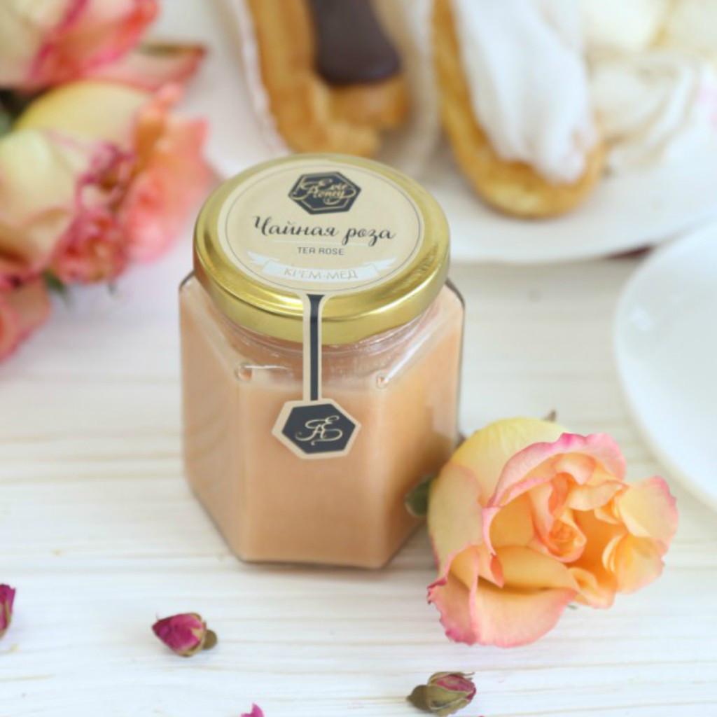"""Крем-мед с чайной розой """"Чайна троянда"""" 200г"""
