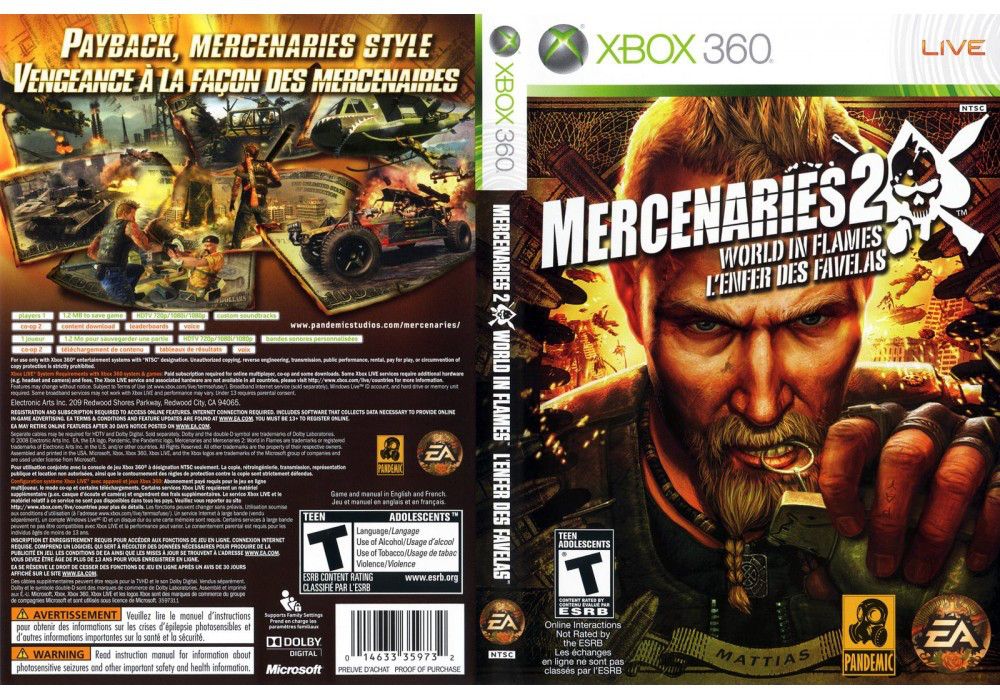 Mercenaries 2: World In Flames (офиц. русский текст)