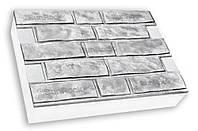 Фасадная термопанель c пенополистиролом 100мм Sunrock колотый кирпич, белый цемент, 600x400мм
