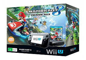 Игровая приставка Nintendo WII U Mario Kart Premium pack (32 GB, мод. 64 GB + игры)