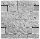 Фасадная термопанель c пенополистиролом 50мм Sunrock волна, серый цемент, 500x500мм