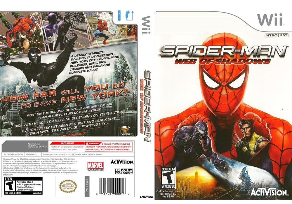 Игра для игровой консоли Nintendo Wii (PAL), Spider-Man: Web of Shadows